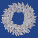 Vickerman 60in. Sparkle White 720 Tips Wreath 200 Pure White Wide Angle LED