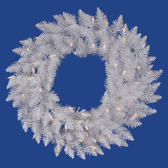 Vickerman 36in. Sparkle White 195 Tips Wreath 100 Pure White Wide Angle LED