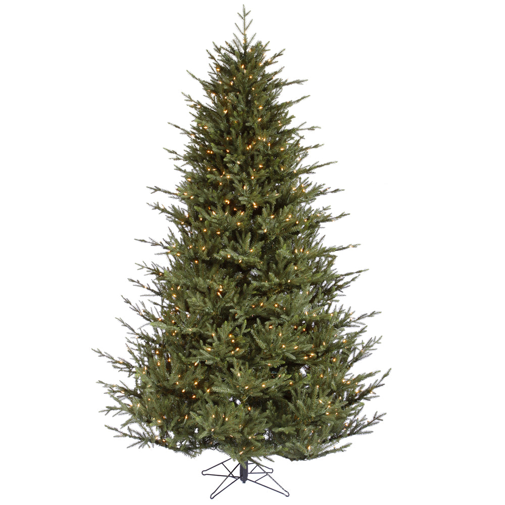 Vickerman 7.5Ft. Green 2454 Tips Christmas Tree 750 Clear Dura-Lit