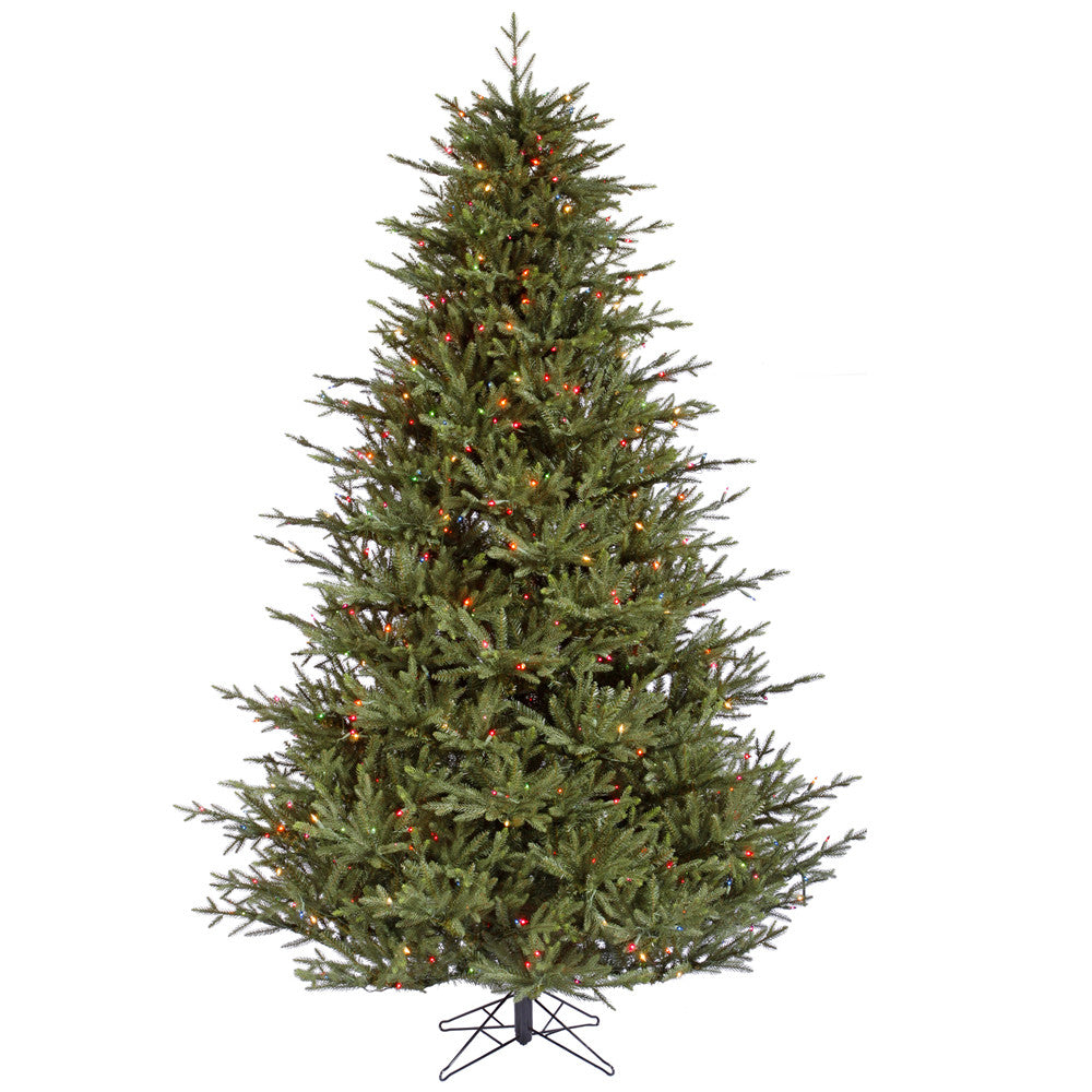Vickerman 6.5Ft. Green 1744 Tips Christmas Tree 600 Multi-color LED Lights