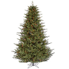 Vickerman 9.5Ft. Green 4582 Tips Christmas Tree 1300 Multi-color LED Lights