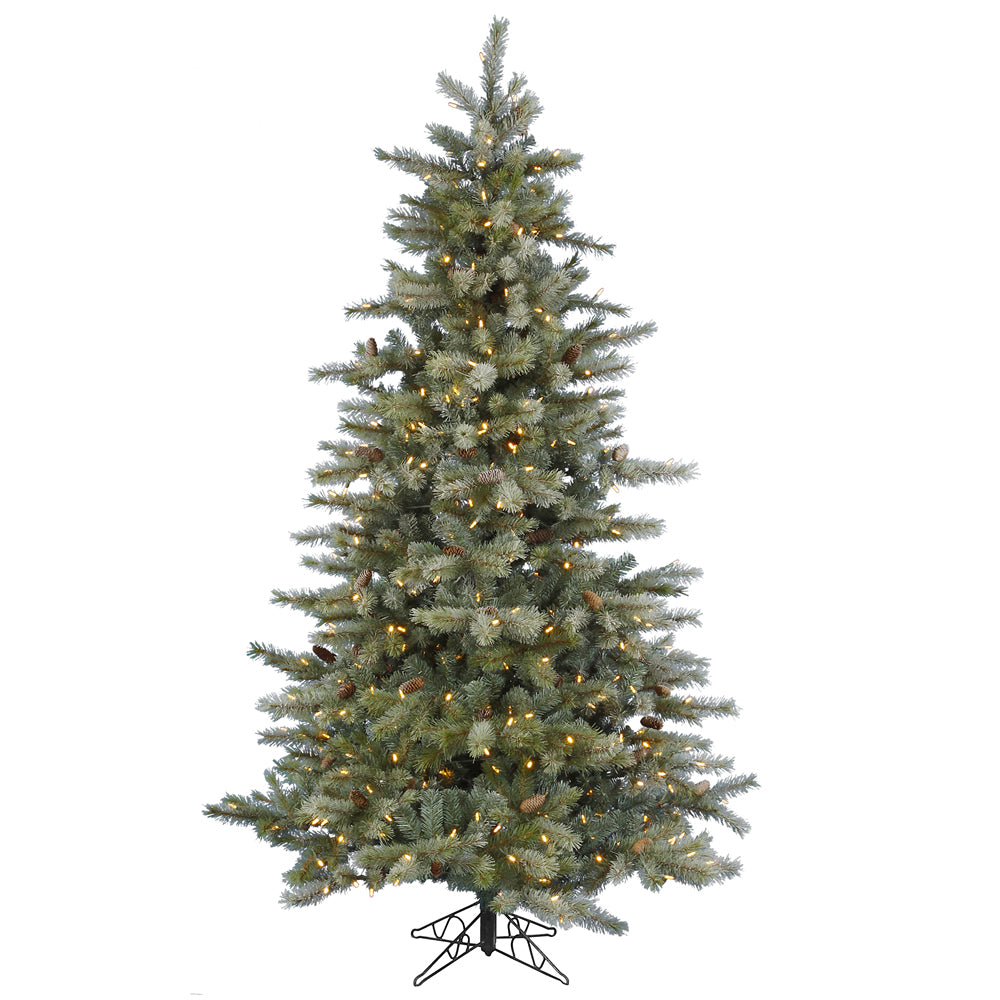 Vickerman 9.5Ft. Frosted 2212 Tips Christmas Tree 900 Warm White LED Lights