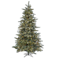 Vickerman 7.5Ft. Frosted 1306 Tips Christmas Tree 550 Warm White LED Lights