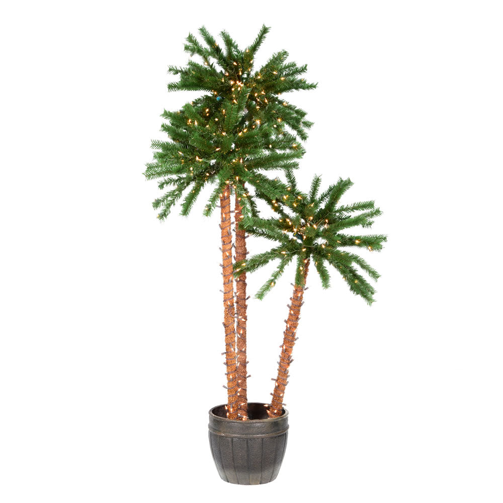 Vickerman 4-5-6 ft. Potted Outdoor Palm Trees 500CL