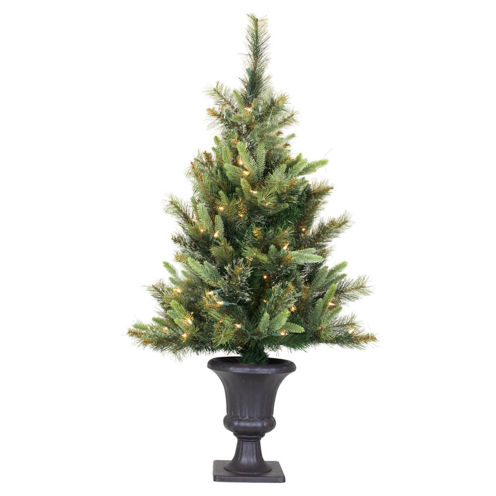 Vickerman 3.5Ft. Green 218 Tips Christmas Tree 100 Multi-color Italian LED