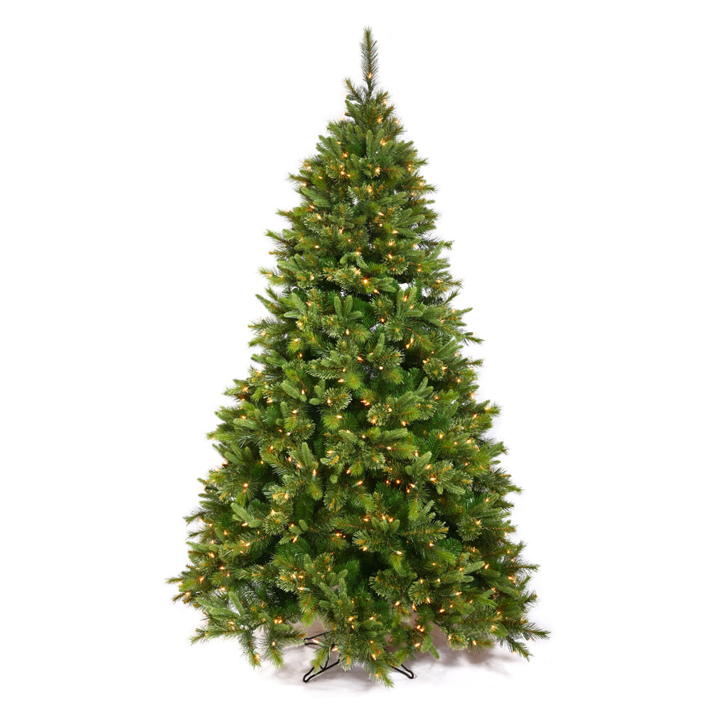 Vickerman 9.5Ft Green 2168 Tips Christmas Tree 1000 Clear Dura-Lit