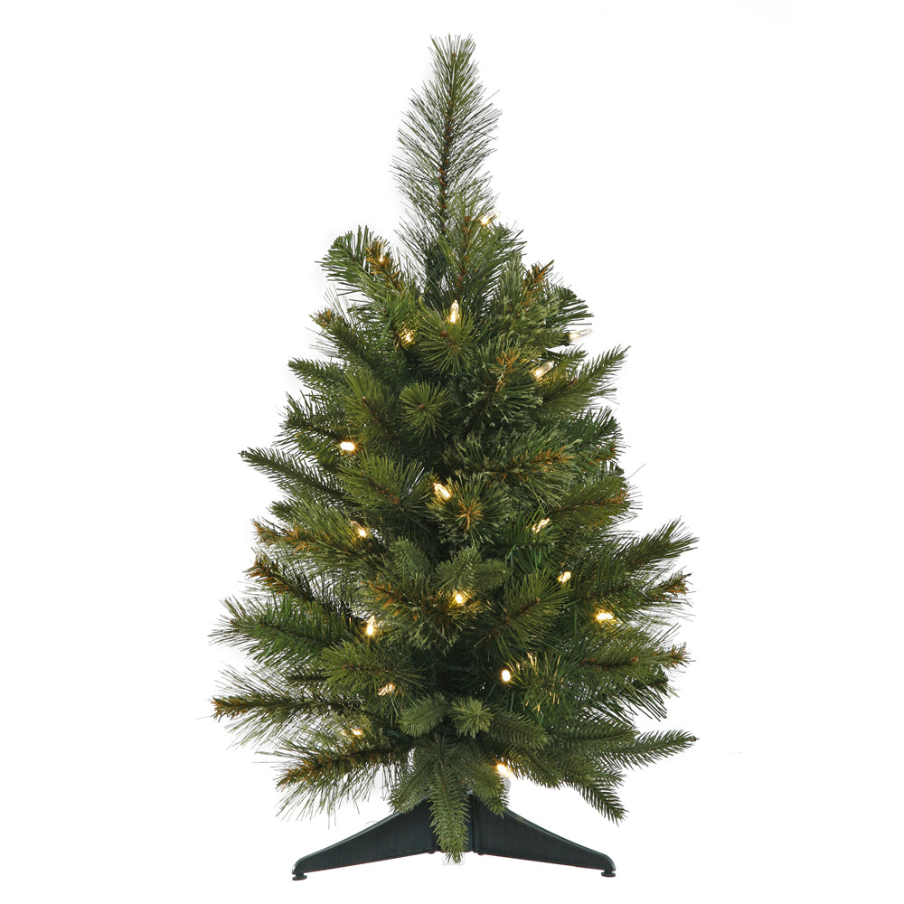 Vickerman 2Ft. Green 79 Tips Christmas Tree 30 Warm White Mini LED