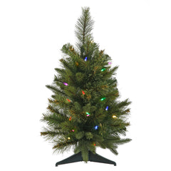 Vickerman 2Ft. Green 79 Tips Christmas Tree 30 Multi-color Mini LED