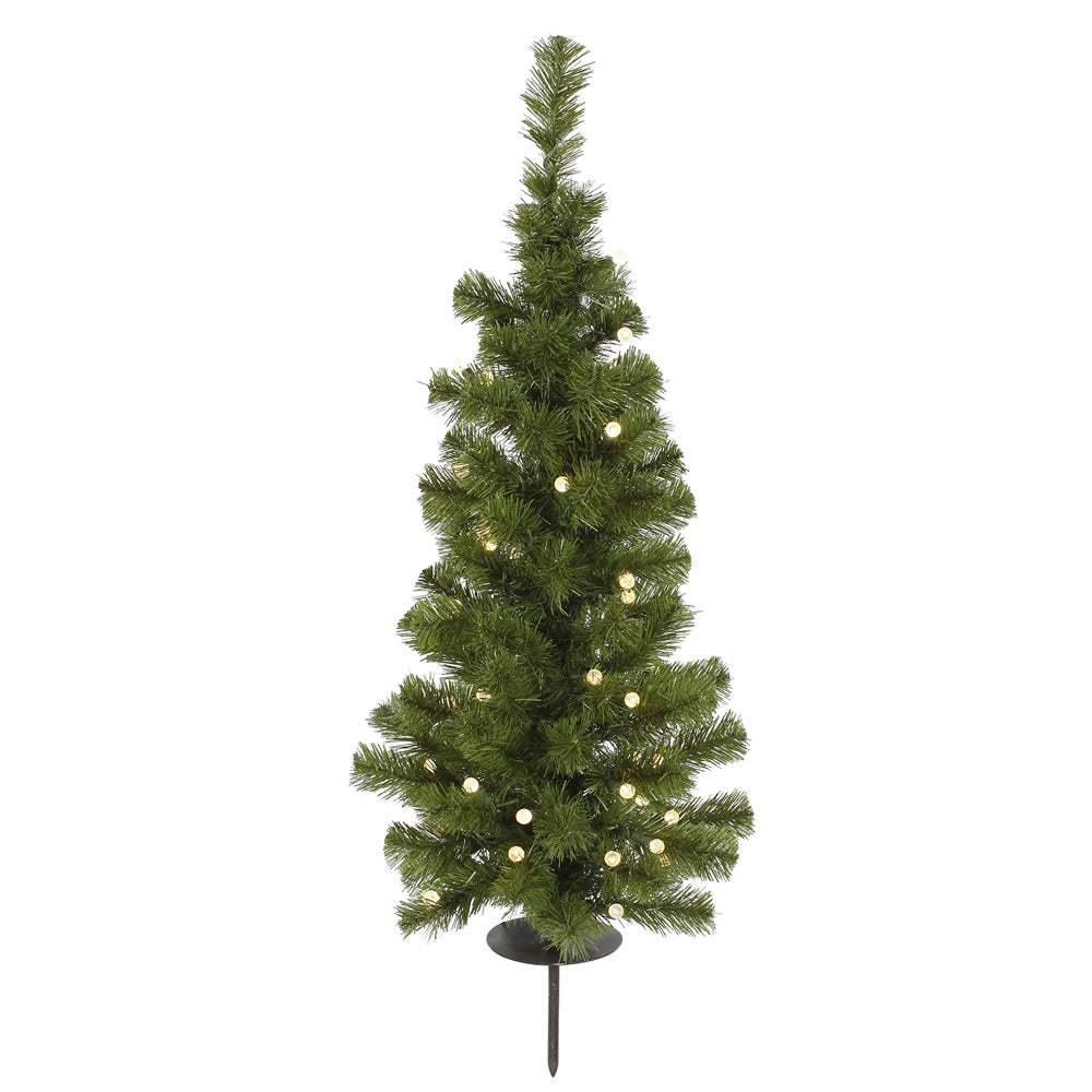 Vickerman 3Ft. Green 93 Tips Christmas Tree 30 Solar LED Warm White lights
