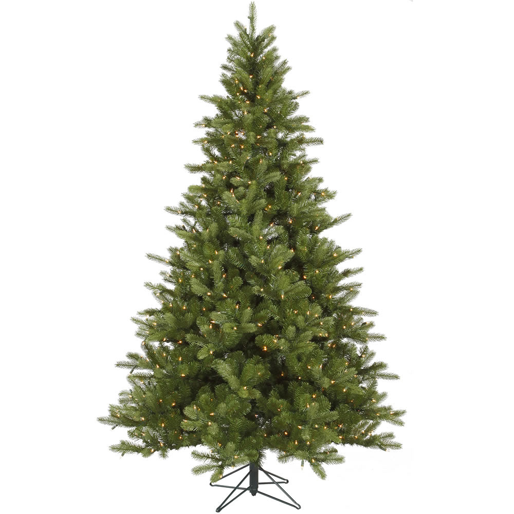 Vickerman 6.5Ft. Green 826 Tips Christmas Tree 350 Clear Dura-Lit