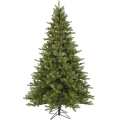 Vickerman 7.5Ft. Green 1402 Tips Christmas Tree 700 Clear Dura-Lit