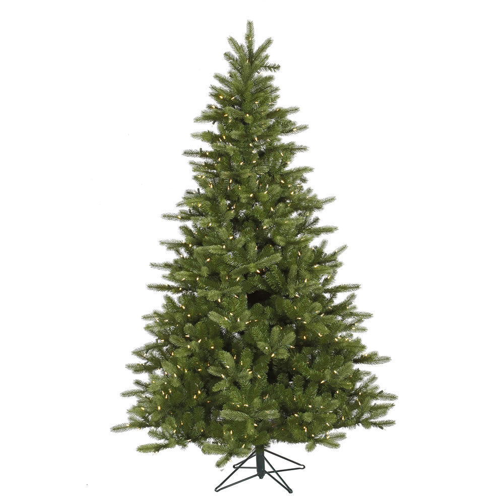 Vickerman 7.5Ft. Green 1402 Tips Christmas Tree 700 Warm White LED Lights