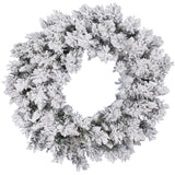 Vickerman 30in. Flocked White on Green 160 Tips Wreath