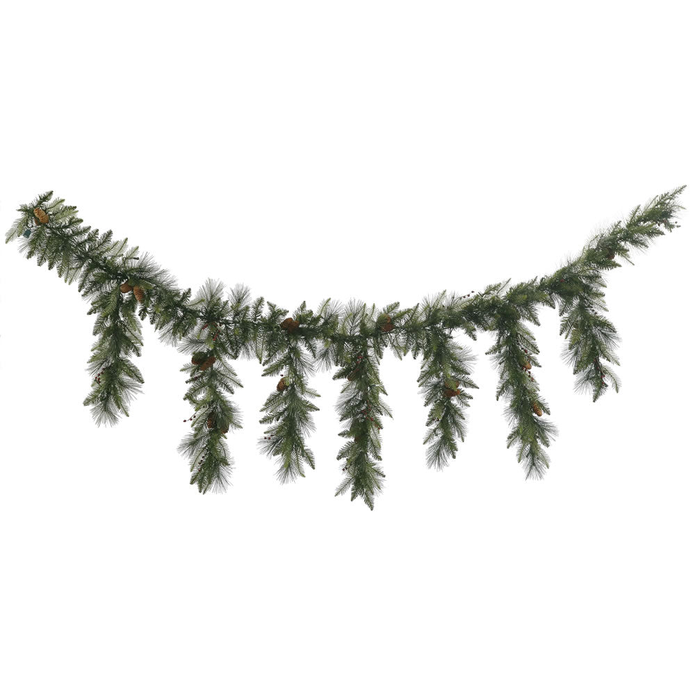 9' Vallejo Mix Pine Icicle Garland 420T