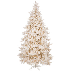75Ft. Flocked Vintage Fir tree 1991 PVC tips 700 Warm White It. LED lights