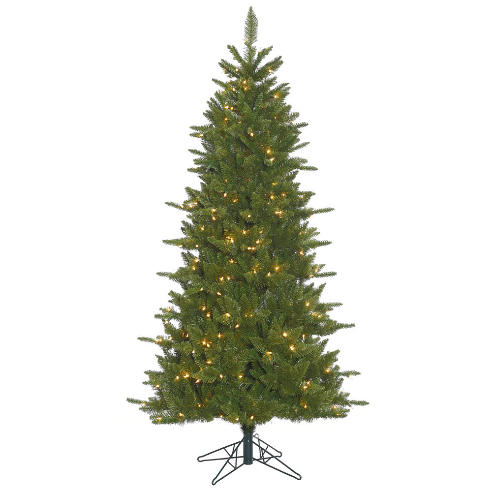 12Ft. Slim Durango Spruce Christmas Tree 4018 Green PVC Tips 1800 Clear Lights