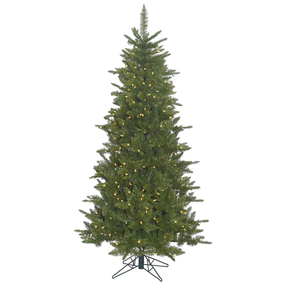 9Ft. Slim Durango Spruce Christmas Tree Green PVC Tips 850 Warm White LEDs