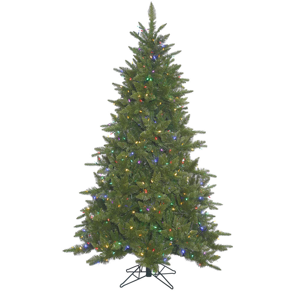 55Ft. Durango Spruce Christmas Tree 886 Green PVC Tips 450 Multi LED Lights
