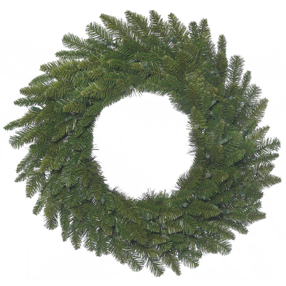 30in. Durango Spruce Wreath 180 Green PVC Tips