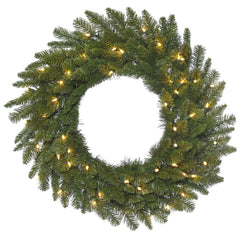 48in. Durango Spruce Wreath 330 Green PVC Tips 200 Clear Dura-Lit Lights