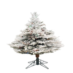 Vickerman 3.5 ft. Flocked Alberta LED 198 Tips Christmas Tree