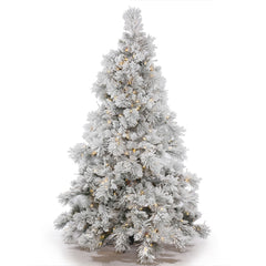 10Ft. Flocked Alberta Christmas Tree 153 Pine Cones 1300 Warm White LED Lights