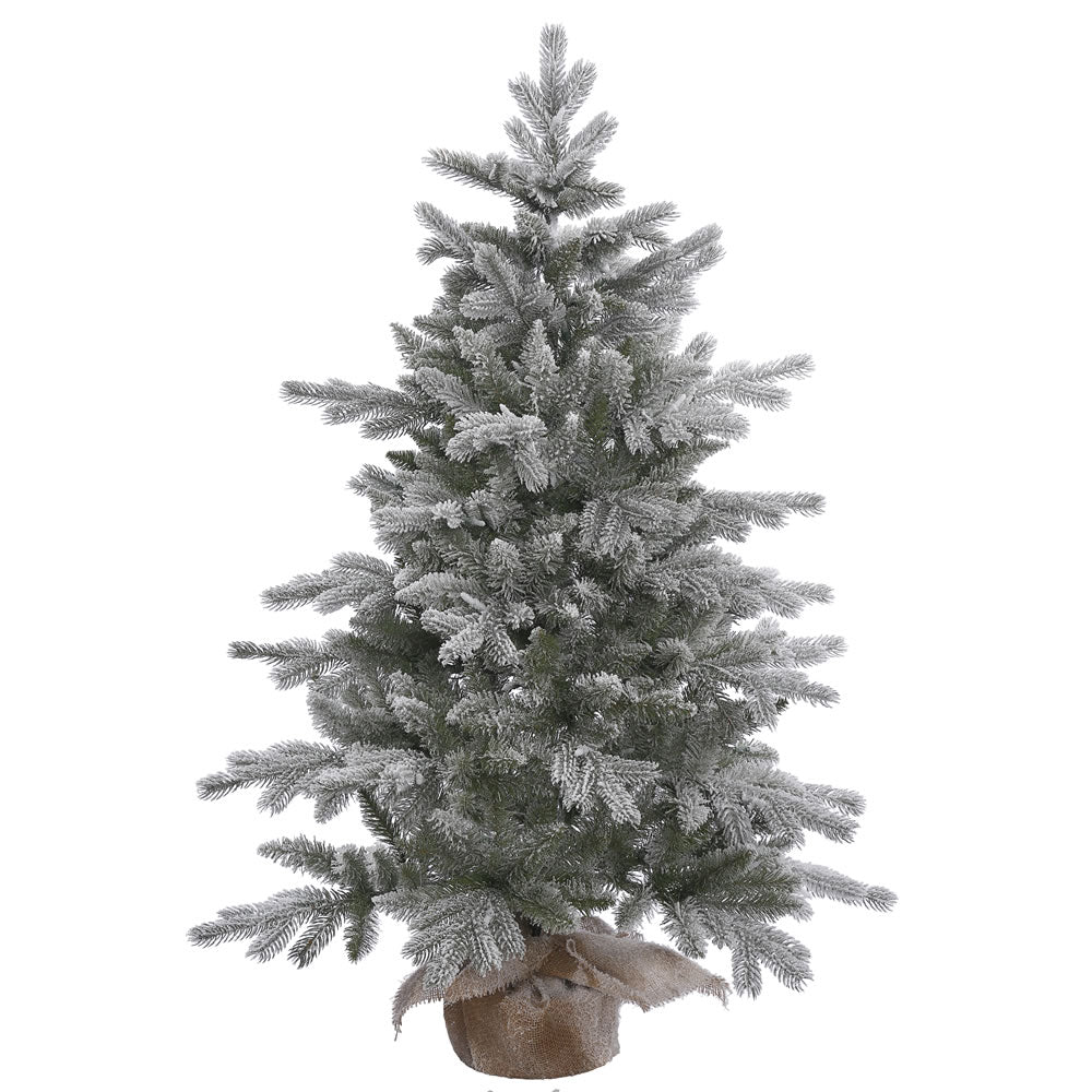 48in. x 32in. Frosted Sable Pine tree 316 Frosted PE/PVC tips