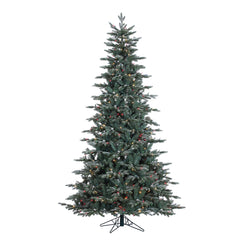 Vickerman 7.5' Crystal Frost Balsam Fir Artificial Christmas Tree Colored Lights