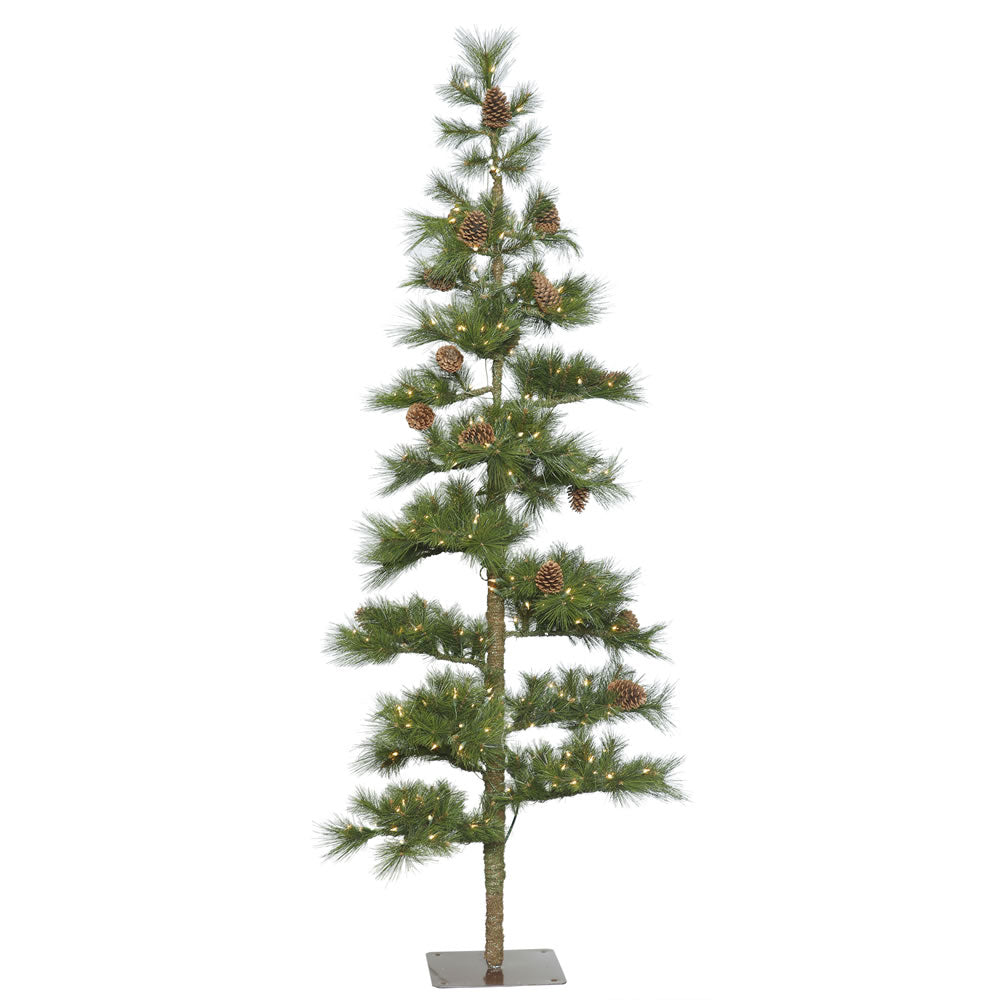 Vickerman 7.5' Mountain Pine Artificial Christmas Tree 250 Clear Lights 264 Tips