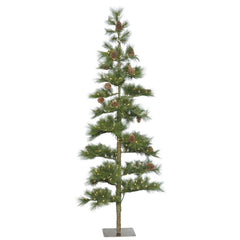 Vickerman 4.5' Mountain Pine Artificial Christmas Tree - 100 Clear Lights