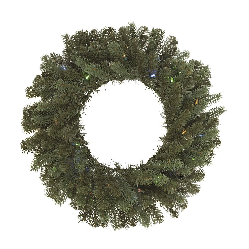 Vickerman 24 in. Colorado Wreath Battery Operated 35LED Warm White-Multi