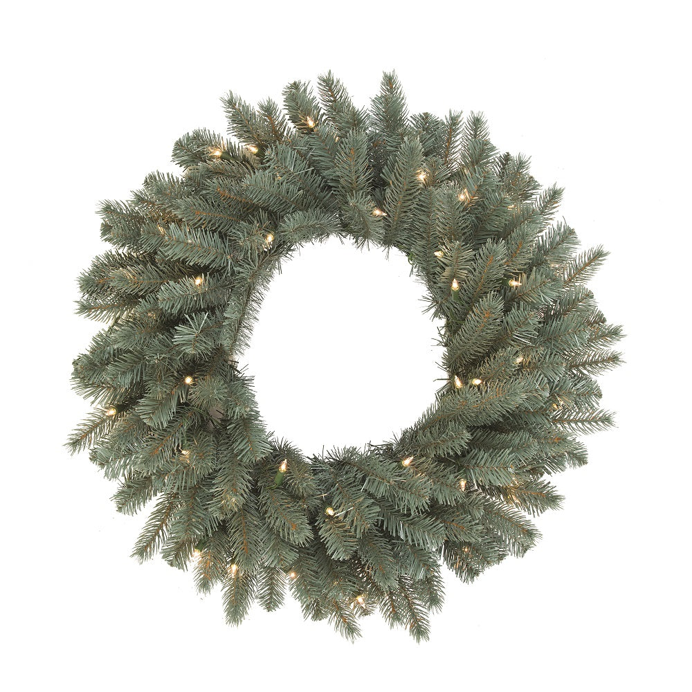 Vickerman 24 in. Colorado Blue Wreath DuraLit 50CL