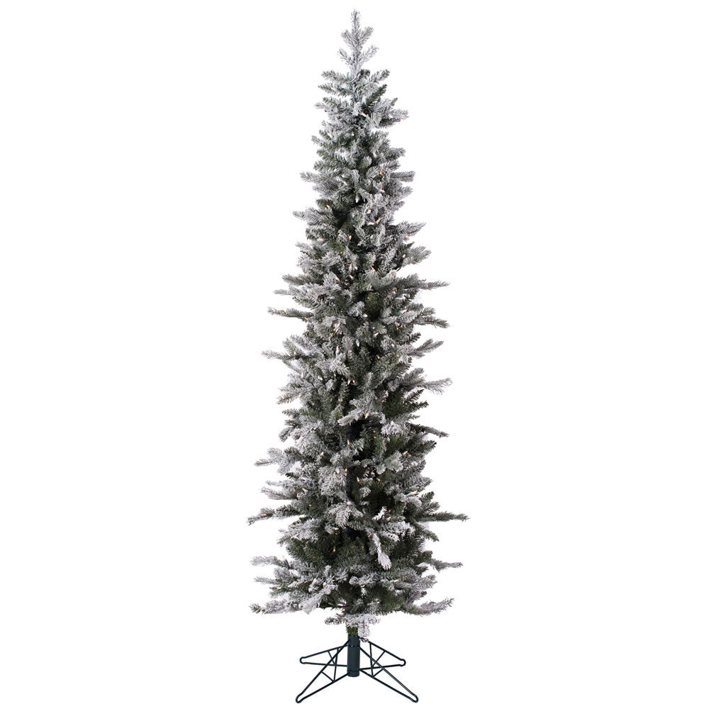 6Ft. Frosted Glitter Tannenbaum Pine Tree 402Tips 250 Led Warm White Lights