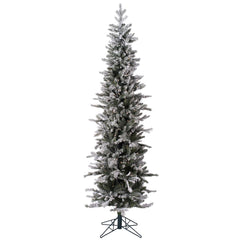 7Ft. Frosted Glitter Tannenbaum Pine Tree 576Tips 300 Clear Lights