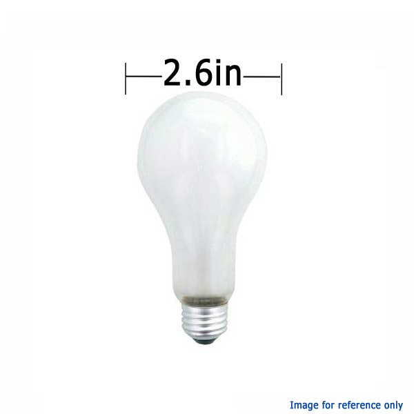 PHILIPS 200W 120V A-Shape A23 E26 Frosted Incandescent