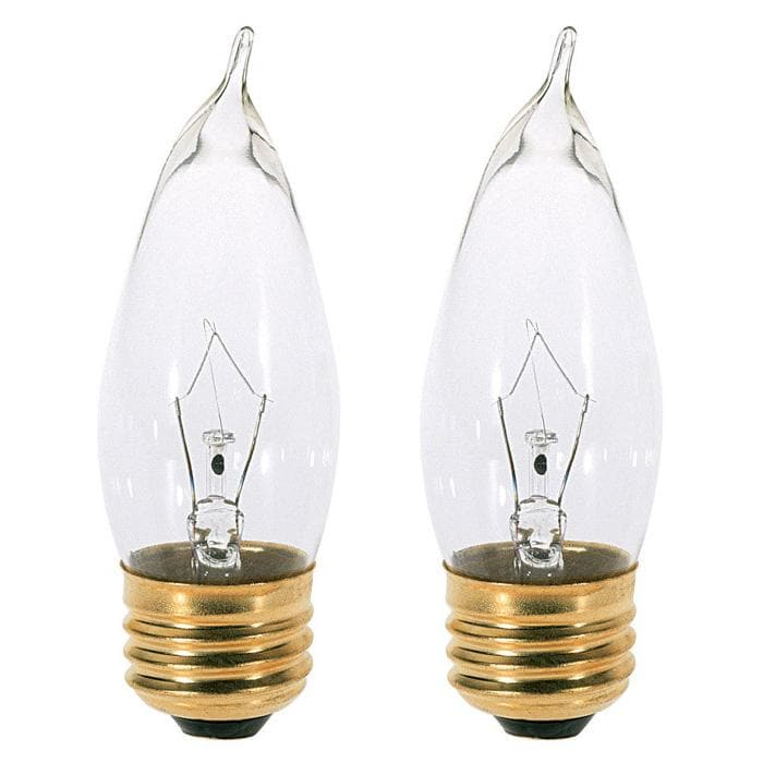 Satco A3566 60W 130V CA10 Clear E26 Incandescent light bulb - 2 pack
