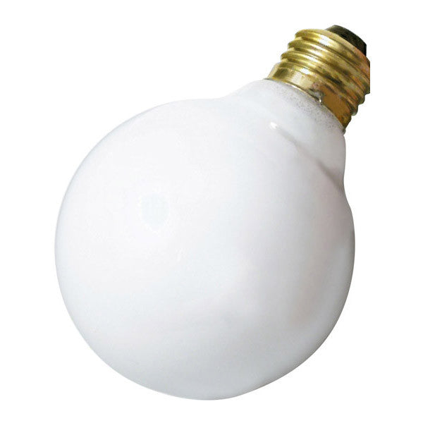 Satco A3645 40W 220V Globe G25 Gloss White E26 Base Incandescent light bulb