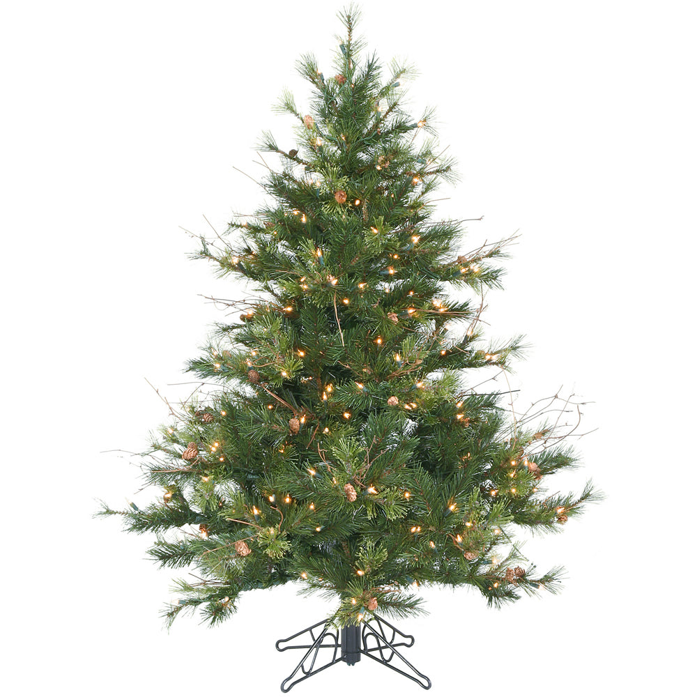 Vickerman 4.5Ft. Green 478 Tips Christmas Tree 250 Clear Dura-Lit