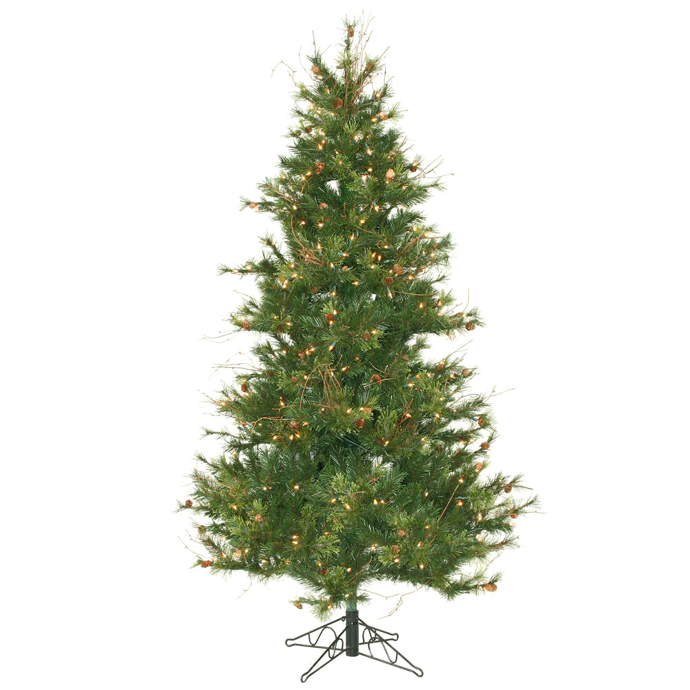 Vickerman 6.5Ft. Green 834 Tips Christmas Tree 400 Clear Dura-Lit