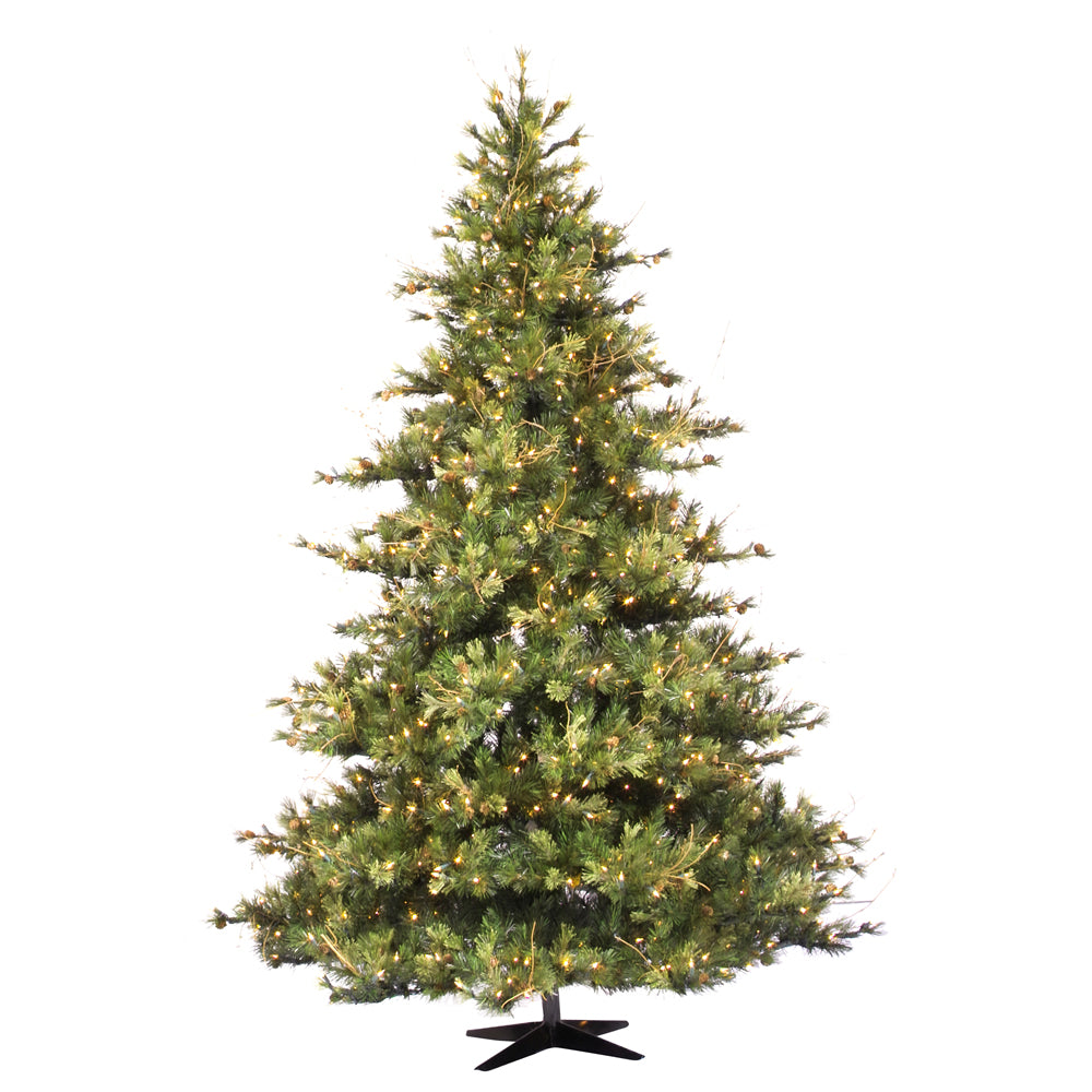 Vickerman 12Ft. Green 5432 Tips Christmas Tree 2500 Clear Dura-Lit