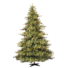 Vickerman 7.5Ft. Green 1624 Tips Christmas Tree 800 Clear Dura-Lit