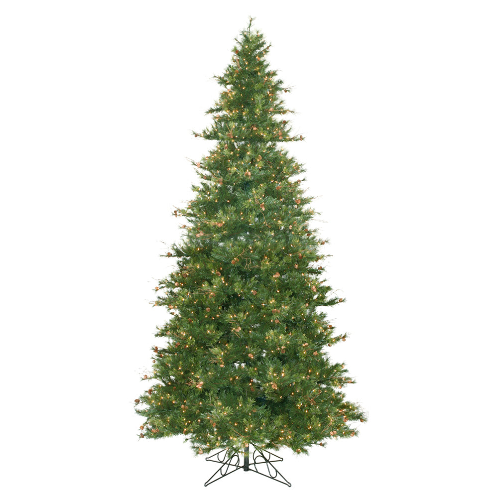 Vickerman 12Ft. Green 4012 Tips Christmas Tree 1900 Clear Dura-Lit