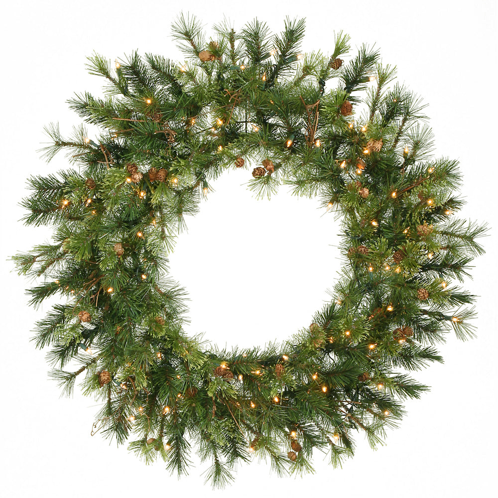 Vickerman 36in. Green 165 Tips Wreath 100 Clear Dura-Lit Lights