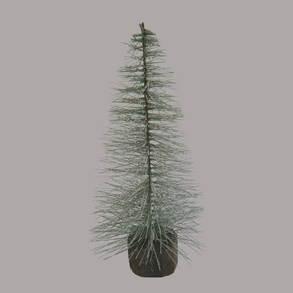 "18"" Blue Spruce Frosted Village Tree Woo"