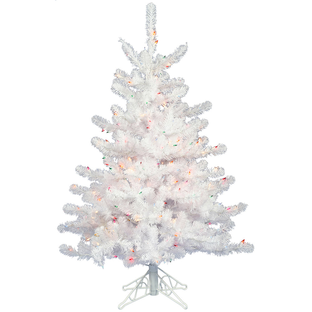 Vickerman 2Ft. Crystal White 99 Tips Christmas Tree 35 Multi-color Dura-Lit