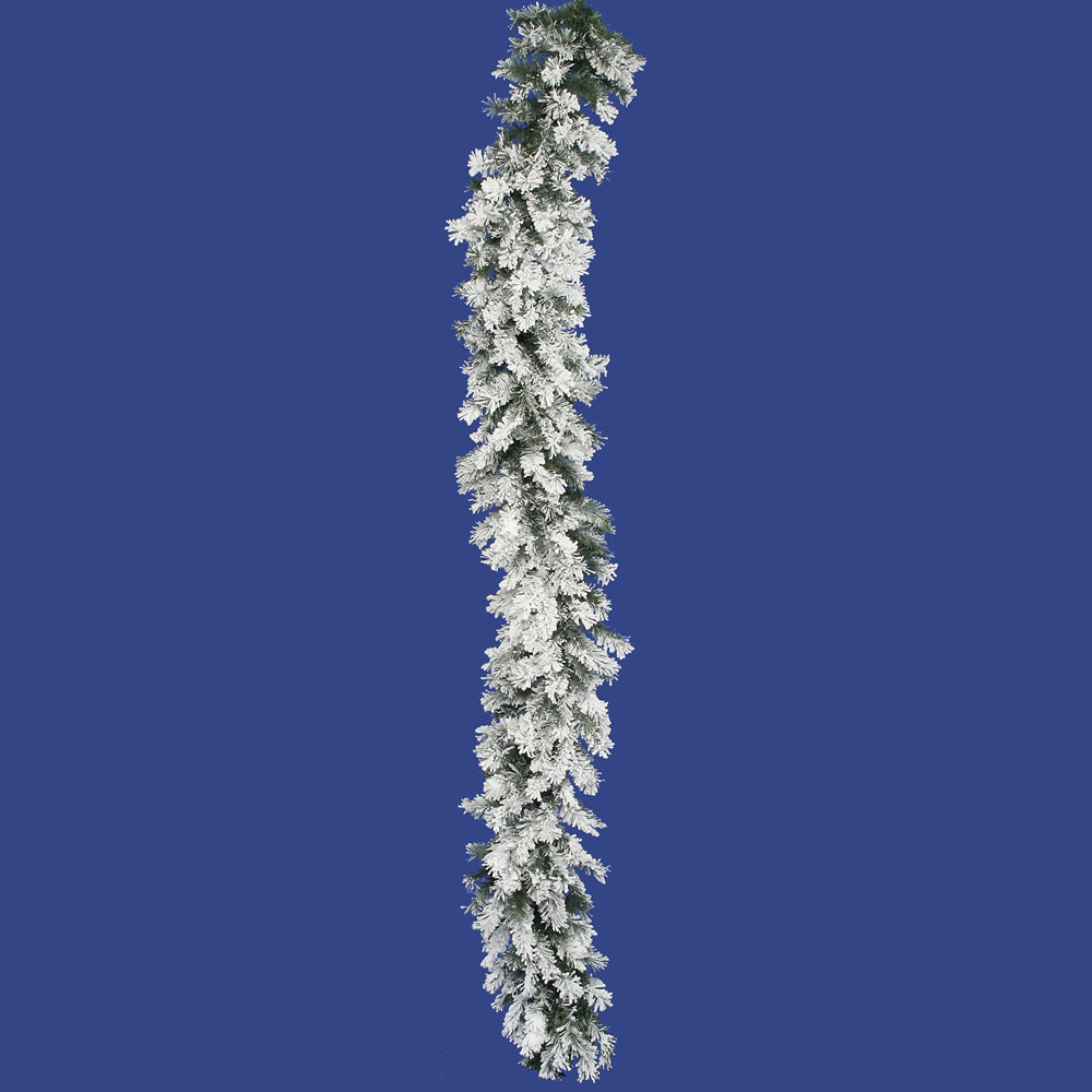 "9' x 16"" Flocked Alaskan Garland, 220T"