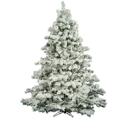 Vickerman 6.5Ft. Flocked White on Green 1045 Tips Christmas Tree