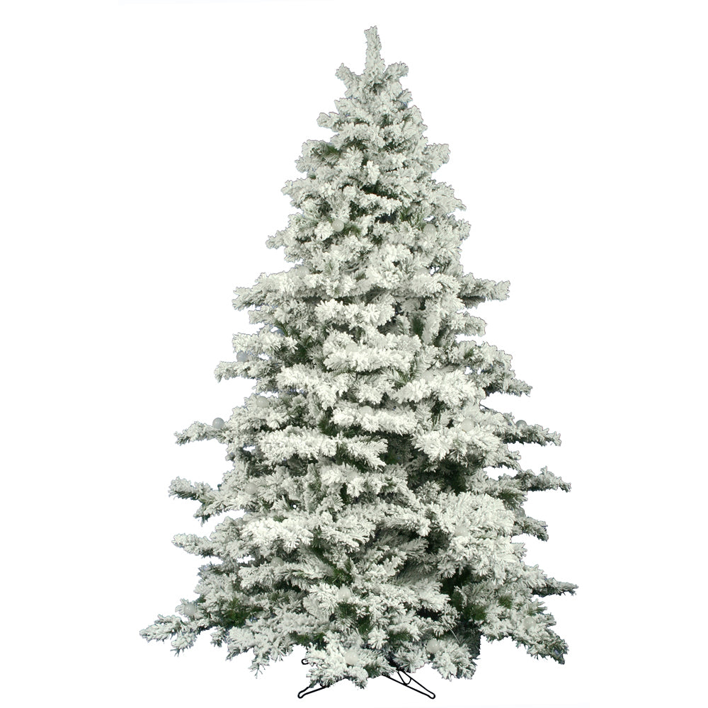 Vickerman 9Ft. Flocked White on Green 2059 Tips Christmas Tree