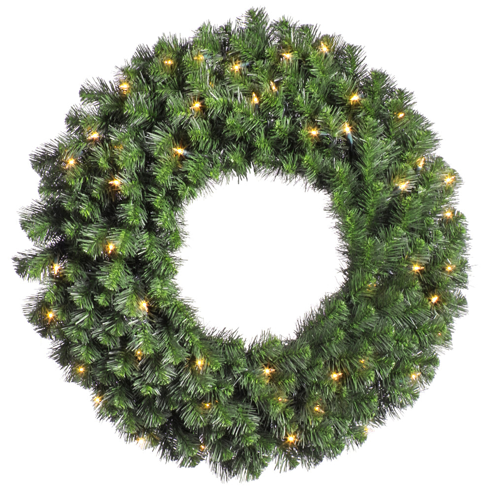Vickerman 36in. Green 320 Tips Wreath 100 Clear Dura-Lit Lights