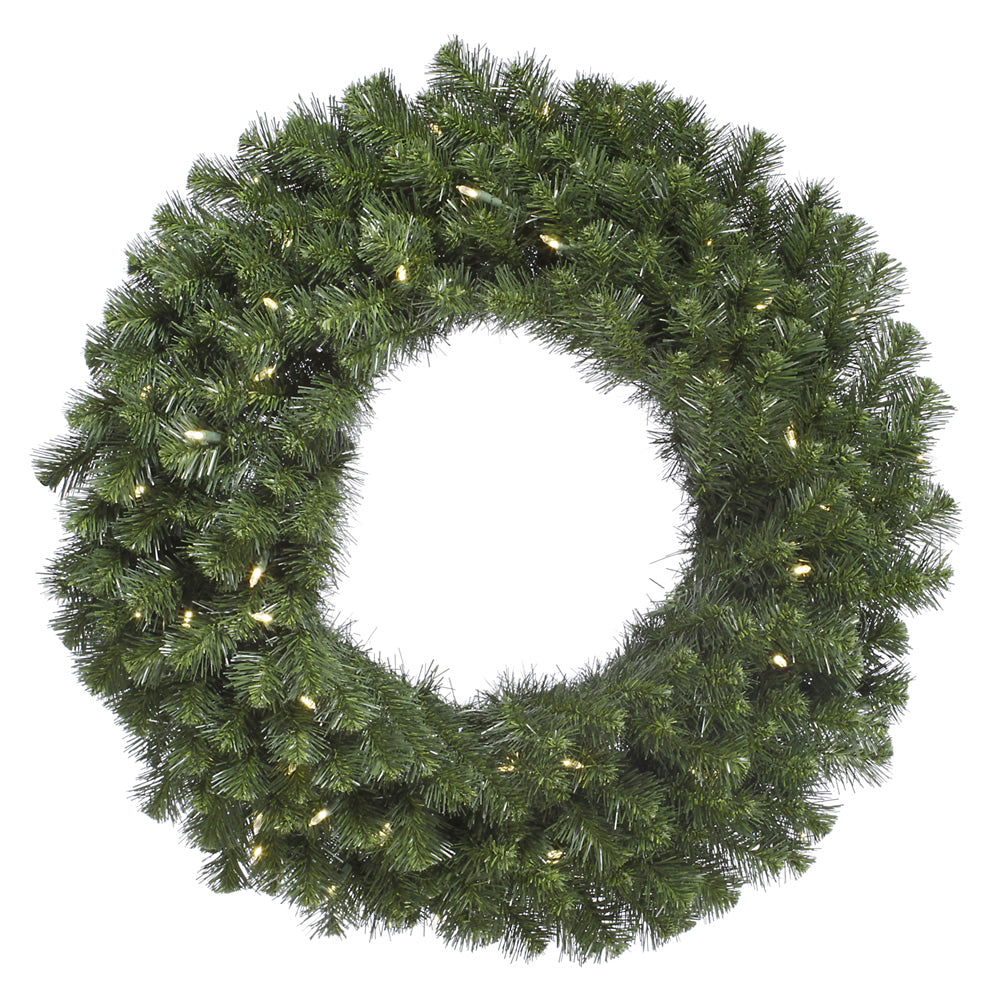 "30"" Douglas Fir Wreath 240T 50 Warm White LED"